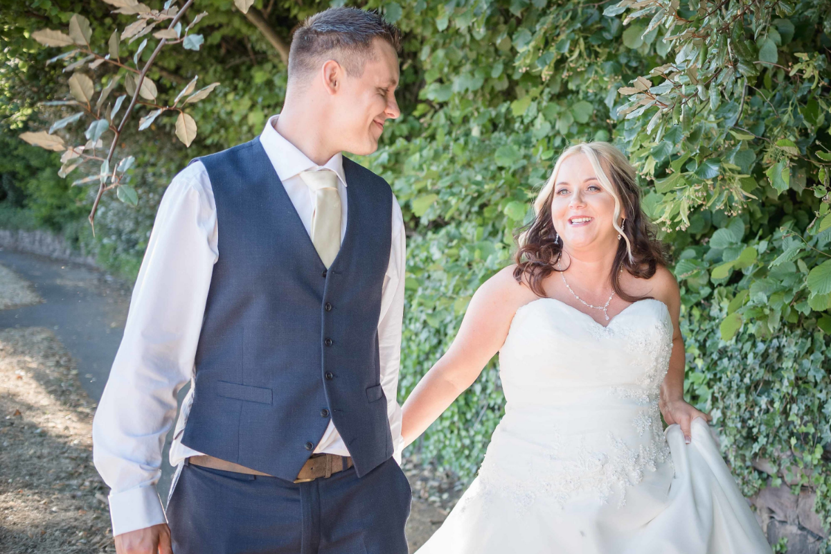 rotherham weddings bride and groom walking